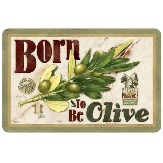 "Prestieranie ""Born to be olive"" sada 6ks, 43.5x28.5 cm, pvc"